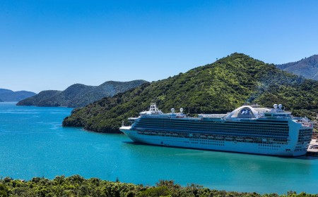 Emerald Princess in Picton NZ 21 Nov 2016