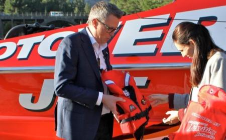 Shotover Jet with the Prime Minister