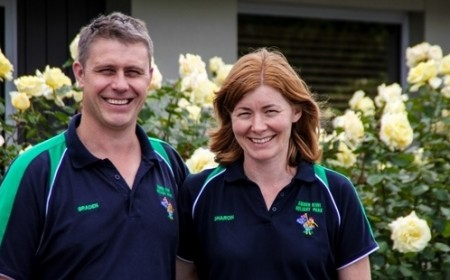 Braden and Sharon Lee, mber Kiwi Holiday Park and Motel, Christchurch - the 1000th business to sign up to the TSC.
